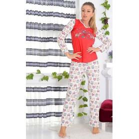 Pijama Dama Bumbac PMK170