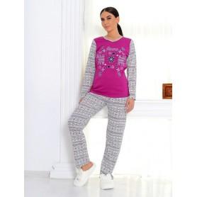 Pijama Dama Bumbac PMK169