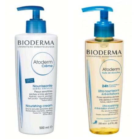 Atoderm Crema Parfumata 500ML + Atoderm Gel de Dus 200ML