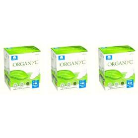 Pachet 3X Absorbante intime Organyc din bumbac organic pentru zi - 10 buc.