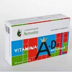 VITAMINA A+D2 NATURALA 30CPS
