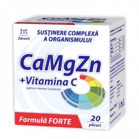 CA+MG+ZN+VIT C FORTE 20DZ