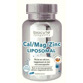 Calciu, Magneziu, Zinc Lipozomal, 60 capsule Biocyte