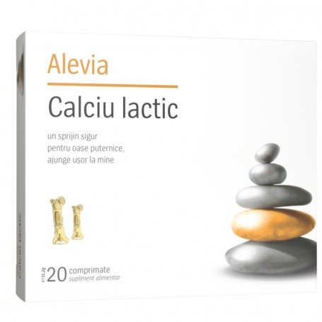 Calciu Lactic, 20 comprimate Alevia