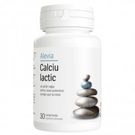 Calciu Lactic, 30 comprimate Alevia