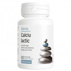 Calciu Lactic, 60 comprimate Alevia