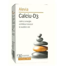 Calciu D3 Formula Citrat, 30 comprimate Alevia