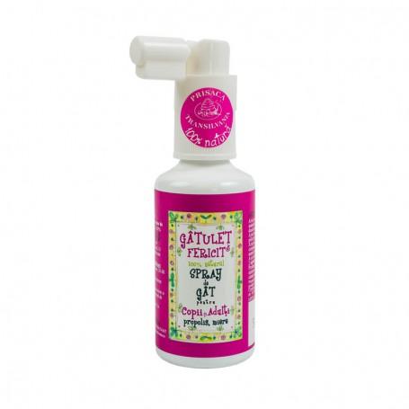 Gatulet Fericit - Spray de gat pentru Copii și Adulți Prisaca Transilvania -  50 ML