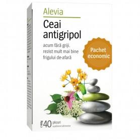 Ceai Antigripol, 40 plicuri Alevia