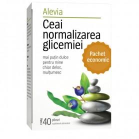 Ceai Normalizarea Glicemiei, 40 plicuri Alevia