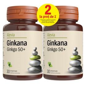 Ginkana Ginkgo Biloba 50+, 30 + 30 cpr Alevia