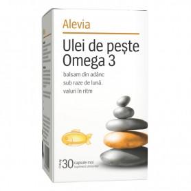 Omega 3 Ulei de Peste, 30 capsule Alevia