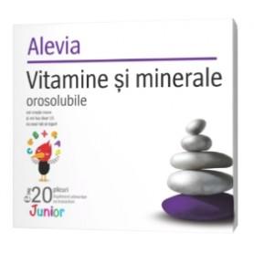 Vitamine si Minerale Junior, 20 plicuri Alevia