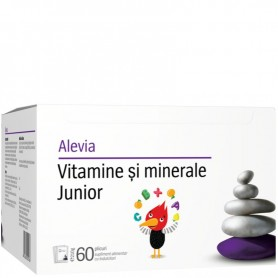 Vitamine si Minerale Junior, 60 plicuri Alevia