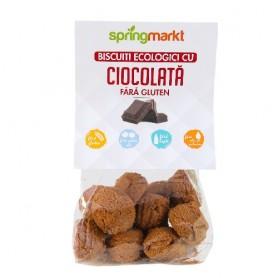 Biscuiti cu Ciocolata Eco fara Gluten, 100g Springmarkt