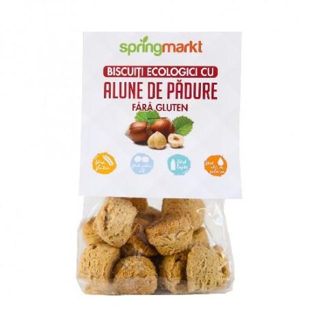 Biscuiti cu Alune de Padure Bio fara Gluten, 100g Springmarkt