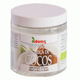 Ulei de Cocos Bio, Presat la Rece 250ML Adams