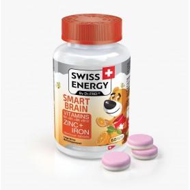 Smart Brain, Vitamine Și Minerale: B2, B5, B6, B12, Zinc, Fier Și Dextroză, 60 Comprimate Pentru Copii, Swiss Energy