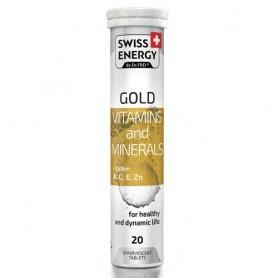 Vitamine si Minerale A, C, E, Zn cu Luteina, 20 tablete efervescente, Swiss Energy