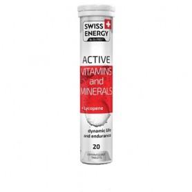 Active Vitamine si Minerale cu Lycopen, 20 tablete efervescente, Swiss Energy