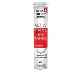 Vitamine si Minerale cu Licopen, 20 tablete efervescente, Swiss Energy