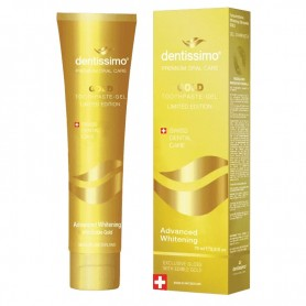 Pasta de Dinti - Gel Advanced Whitening Gold Dentissimo Swiss Biodent, 75ML