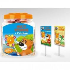 Swiss Energy, Kids, 100 Acadele Cu Multivitamine & Calciu (Aroma De Portocale)