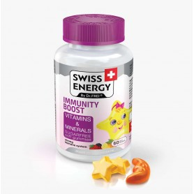 Vitamine si Minerale, Immunity Boost 60 drajeuri moi pentru Copii, Swiss Energy