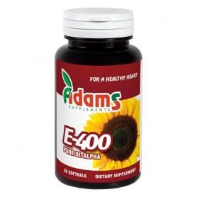 Vitamina E-400 Sintetica, 30 capsule Adams
