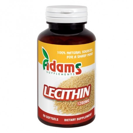 LECITINA 1200MG 60CPS ADAMS