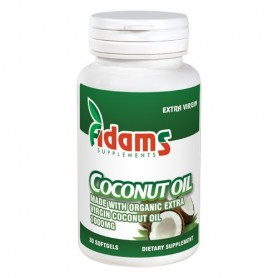Coconut Oil, 1000Mg 30 capsule Adams