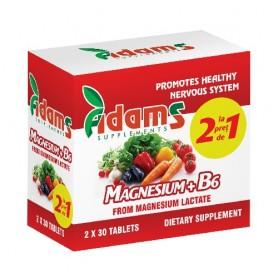 Magneziu + B6, 30 tablete 1+1 GRATIS
