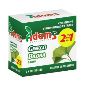 Ginkgo Biloba, 60 tablete 1+1 GRATIS