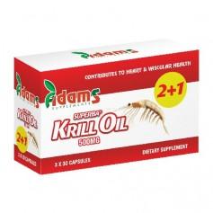 Krill Oil, 500Mg 30 capsule 2+1 GRATIS