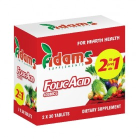 Acid Folic, 400Mcg 30 tablete 1+1 GRATIS