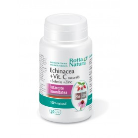Echinacea + Vitamina C + Se+Zn, 30 capsule