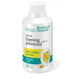 Evening Primrose + Vitamina E, 90 capsule Rotta Natura