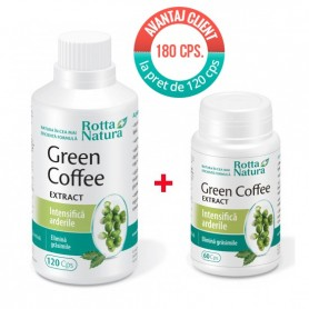 Cafea Verde Extract, 120cps + 60 cps Rotta Natura