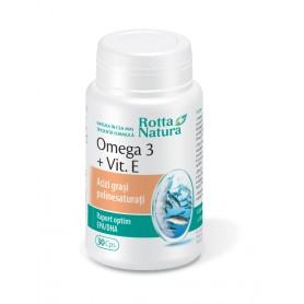 Omega 3+ Vitamina E, 30 capsule Rotta Natura