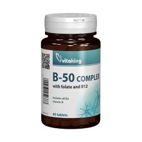 Complex Vitamine B-50 cu Folat, 60 cpr Vitaking