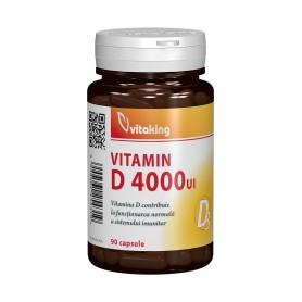 Vitamina D3 Forte, 4000UI 90 capsule Vitaking