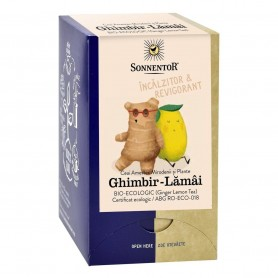 Ceai de Ghimbir cu Lamaie Bio, 18 plicuri 32.4g Sonnentor