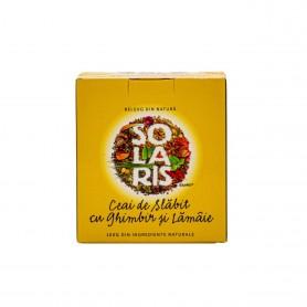 Ceai de Slabit cu Ghimbir si Lamaie, 20 plicuri Solaris