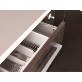 Set sistem de siguranta pentru sertarele superioare BebeduE 1328 Gri