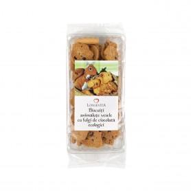 Biscuiti Animalute Vesele cu Fulgi de Ciocolata, Bio 140g Longevita