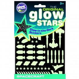 Stickere Navete spatiale fosforescente The Original Glowstars Company B8003 Initiala