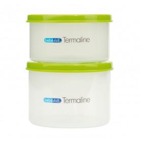 Set 2 recipiente hrana copii Termaline  BebeduE 80134 Verde