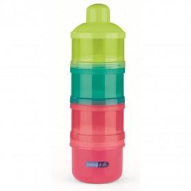 Dozator de lapte praf Colours and Flavours BebeduE 80120 Rosu/Albastru/Verde