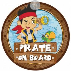 Semn de avertizare Pirate on Board Jake Disney Eurasia 25033 Initiala