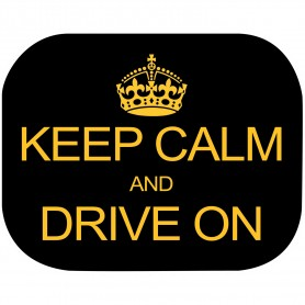 Set 2 parasolare Keep Calm and Drive On Eurasia 10940 Initiala